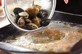 ホタテ、アサリのちゃんぽん鍋の作り方1