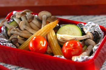 彩り野菜のホイル焼き