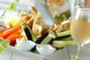 1本アナゴの大葉ベニエ&フレッシュ野菜の作り方の手順