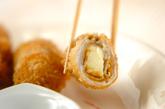 チーズ入りカレー風味豚肉フライの作り方3