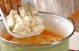 レタスと豆腐のスープの作り方7