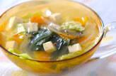 レタスと豆腐のスープ