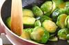 芽キャベツのバター炒めの作り方の手順2