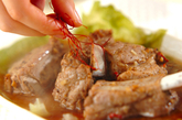 豚骨付きバラ肉の豆鼓蒸しの作り方2