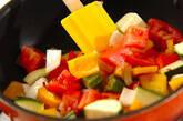 夏野菜をたっぷり使ったハンバーグの作り方8