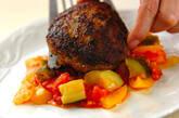 夏野菜をたっぷり使ったハンバーグの作り方10