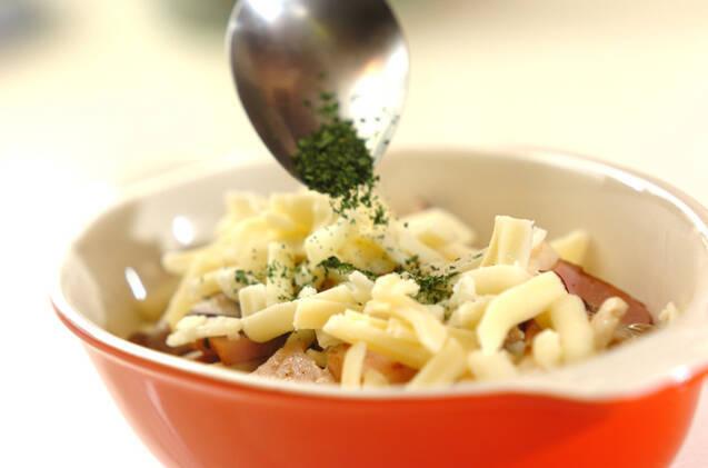 キノコとベーコンのチーズ焼きの作り方の手順3