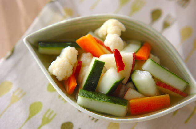 野菜のピリ辛漬け