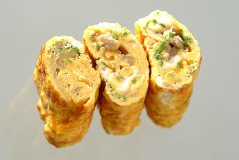 ナメタケ入り卵焼き