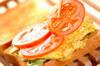 チーズオムレツサンドの作り方の手順4