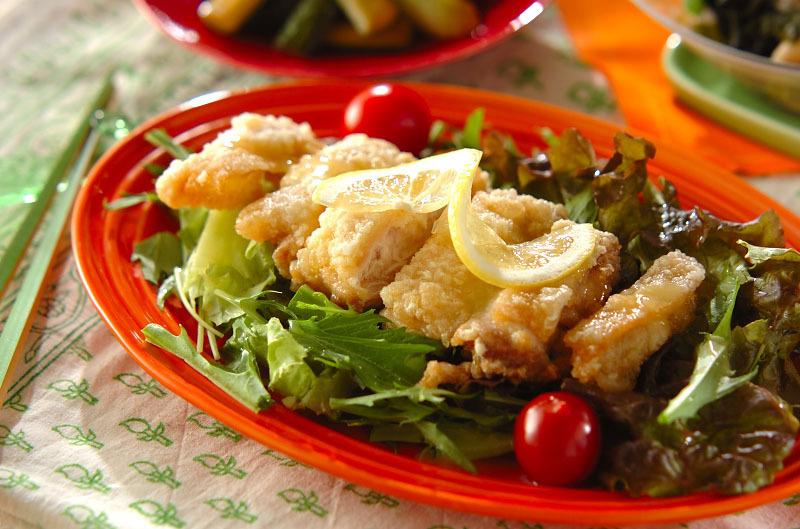 1.揚げ鶏のレモンソース