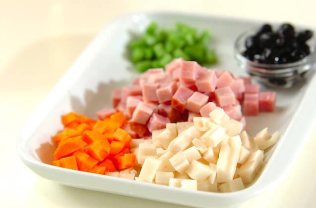 黒豆入り炊き込みご飯の作り方の手順2