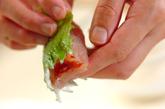 ささ身の梅肉はさみ揚げの作り方2