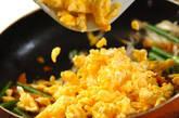 卵とニンニクの芽の炒め物の作り方7