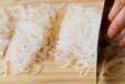 糸コンの酢の物の下準備1
