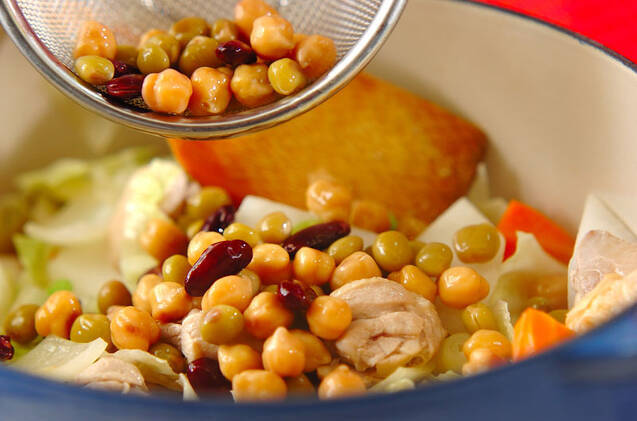 豆入りジャガのスープ煮の作り方の手順7