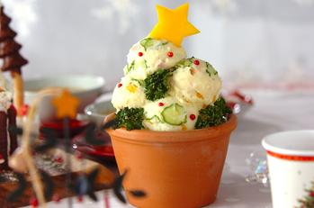 クリスマスツリーポテトサラダ