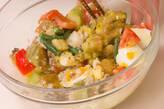 ナスと半熟卵のサラダの作り方2
