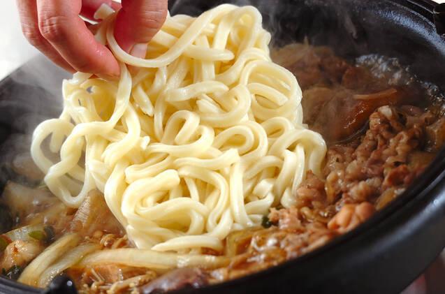 牛肉と鶏肉のすき焼きの作り方の手順16