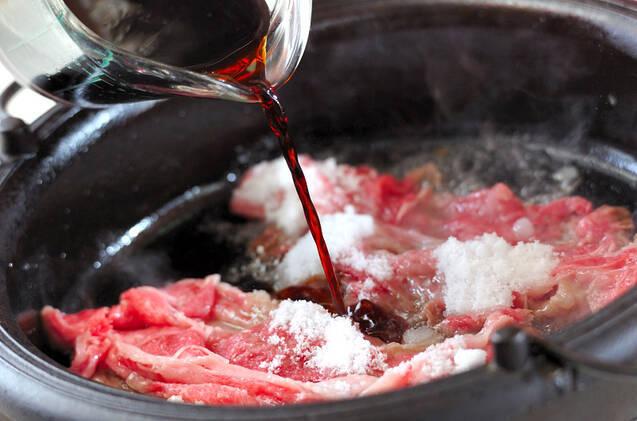 牛肉と鶏肉のすき焼きの作り方の手順15