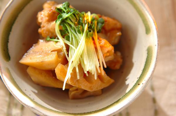 鶏手羽元とレンコンのこっくり煮