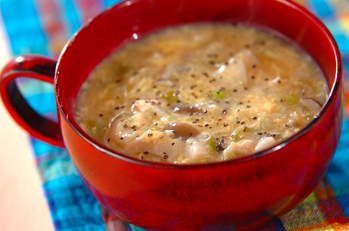 ささ身のトロミ酢スープ