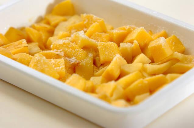 ヨーグルトのせマンゴーのデザートの作り方の手順1