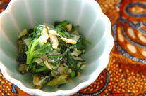 菊菜のワサビ和え