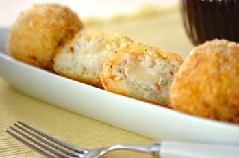 チーズ入りライスコロッケ