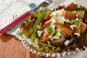 鶏照り焼きのサラダ仕立て