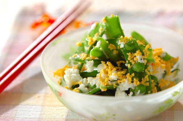 緑野菜のミモザサラダ