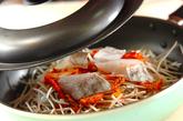 タラとキムチの重ね蒸しの作り方2