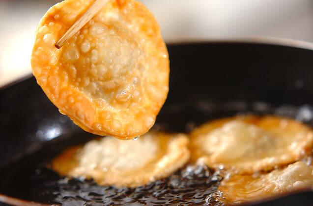 栗と小豆のパリパリ揚げの作り方の手順3