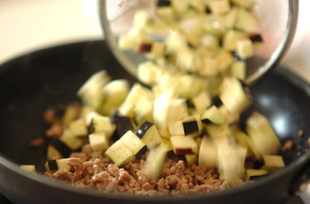 ナスと肉みその和えそばの作り方の手順3