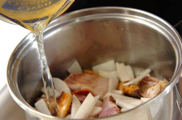 鯛の具だくさん汁の作り方の手順4