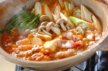 豆腐と豚肉のチゲ鍋