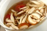 キノコの梅風味汁の作り方1