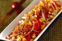 トマトとジャコのサラダ