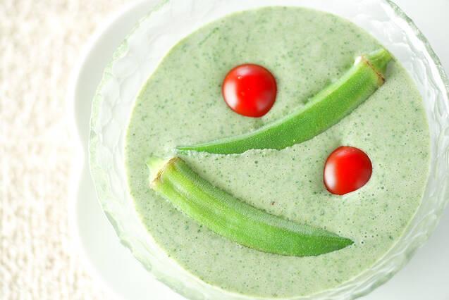モロヘイヤの豆乳スープ