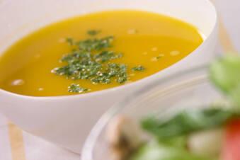 カボチャの冷たいスープ