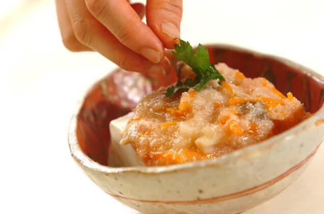 蒸し豆腐のカブみぞれあんかけの作り方の手順8