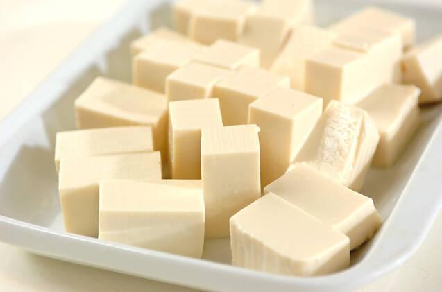 カレー風味大人の辛口麻婆豆腐の作り方の手順1