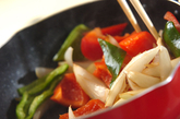 揚げサバの甘酢炒めの作り方2