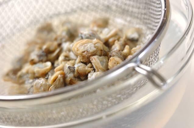 身シジミの煮物の作り方の手順1