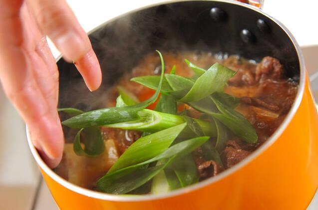 肉豆腐丼の作り方の手順4