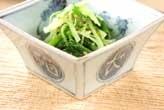 水菜のゴママヨ和え