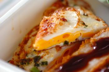 卵のネギマヨはさみ焼き