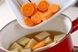高野豆腐の炊き合わせの作り方1
