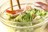 カニカマサラダの作り方2