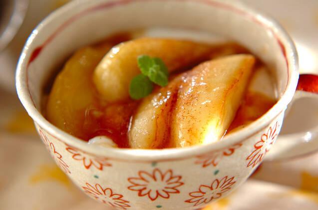リンゴのカラメルソテー